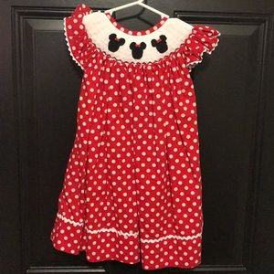 Minnie mouse handmade smock dress